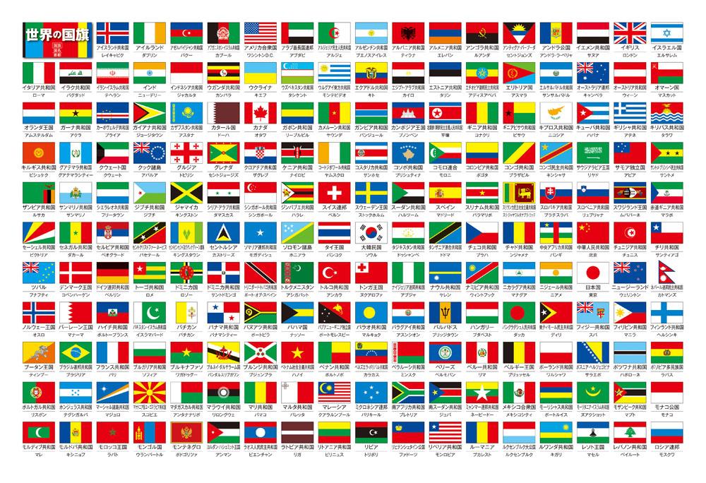 株式会社ビバリー / 世界の国旗 : 世界地図 プリント : プリント